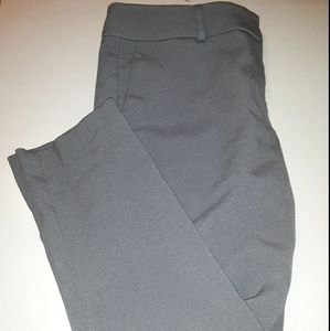 ATF Gray Signature Ankle Pants. Size 6p.
